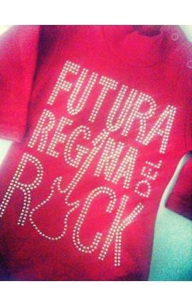 """Bodino lupetto per femminuccia """"Futura regina del rock"""""""