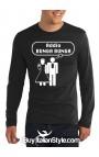 "T-shirt M-lunga uomo ""Addio Bunga Bunga."""