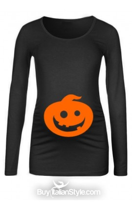 Maternity T-shirt with pumpkin