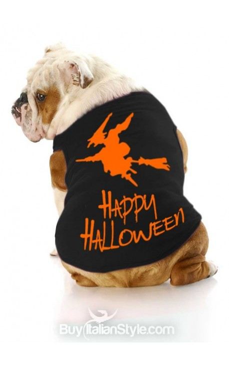 "T-shirt per cani ""Happy Halloween"""