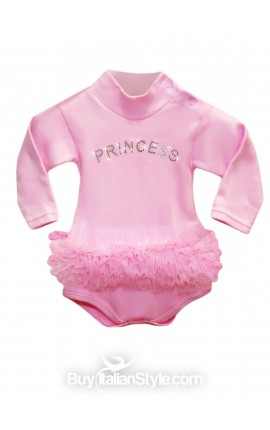 "Winter Knit turtleneck bodysuit ""Princess"""