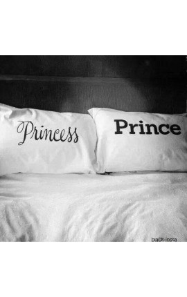 """PRINCESS"" and ""PRINCE"" Couples pillowcases"
