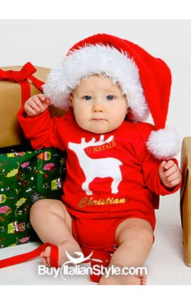 "Turtleneck bodysuit ""my first christmas"""
