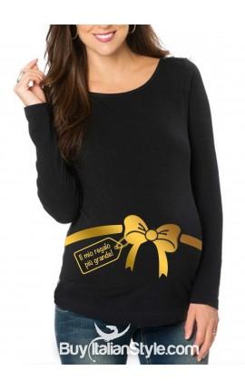 """T-shirt premaman """"Il mio regalo più grande"""""""