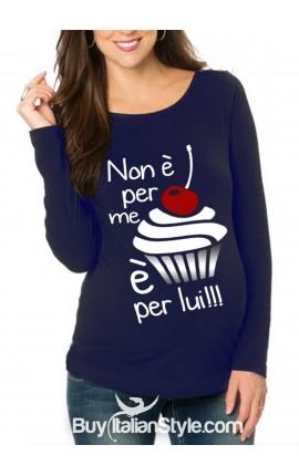 """T-shirt premaman """"Non è per me, è per lui/lei"""""""