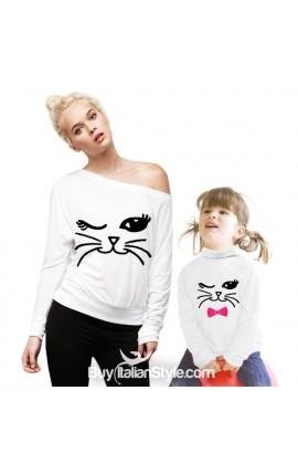 Maglia BIMBA con gatto