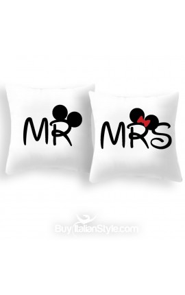 "Pillow case ""MR"" and ""MRS"" for pillows 35x35 cm"