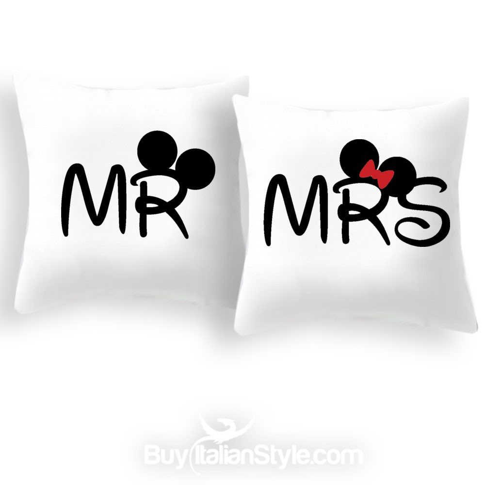 Cuscini Mr Mrs.Pillow Case Mr And Mrs For Pillows 35x35 Cm