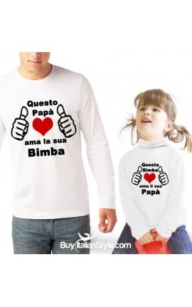 "T-shirt UOMO ""Questo papà ama la sua bimba"""