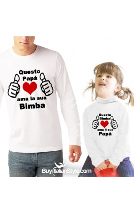 """MAN T-shirt """"This dad loves her girl"""""""