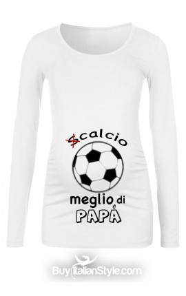 "T-shirt premaman ""(S)calcio..."