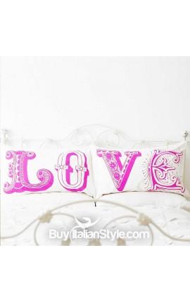 Pair of pillowcases love