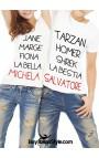 """PACK """"Coppie divertenti"""": 2 T-shirt coordinate LUI&LEI PERSONALIZZABILI con i propri nomi"""