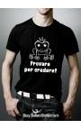 """T-shirt uomo mezza manica """"Provare per credere"""""""