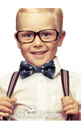 Newborn baby boy and kids bow tie with anchors