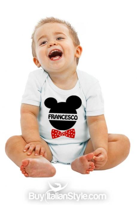 Bodino bimbo/a personalizzabile con scritta FANTASY (con orecchie)