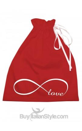 """Sacco porta regali """"Infinity love"""" per San Valentino"""