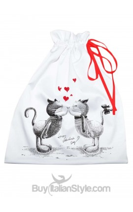 """Sacco porta regali con gattini """"Cats in love"""""""