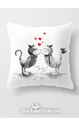 "Federa cuscino con gattini ""Cats in love"""