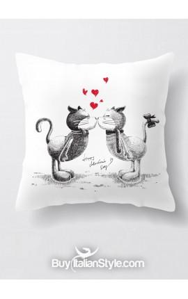 """Federa cuscino con gattini """"Cats love"""""""