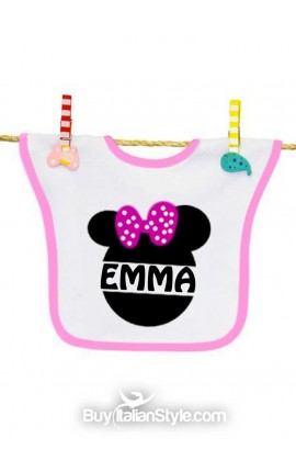 Baby bib customizable with FANTASY print (with ears)