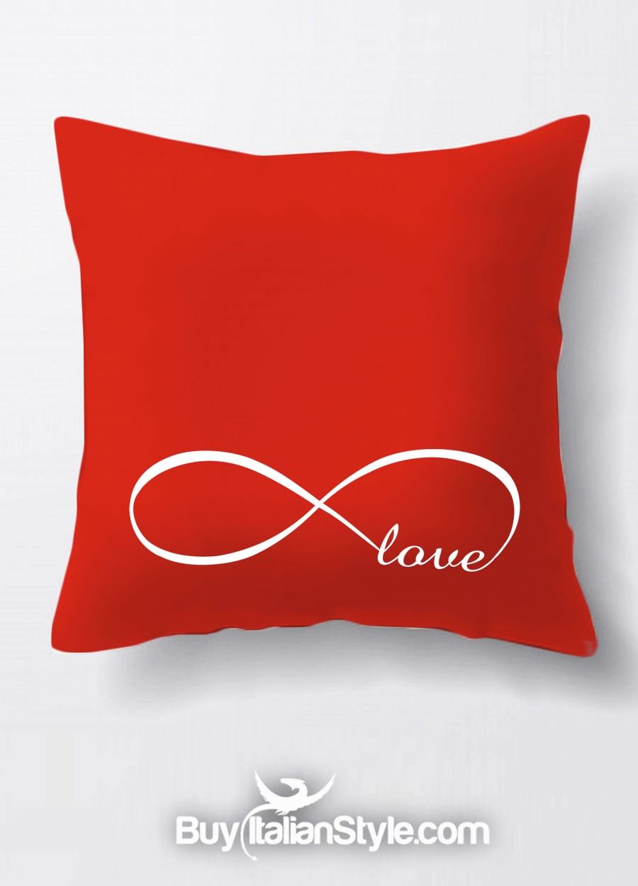 Federe Per Cuscini San Valentino.Federa Per Cuscino Infinity Love Infinito Amore Per San Valentino