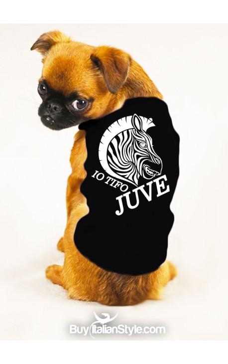 """T-shirt cotone/caldo cotone per cane """"Io tifo Juve"""""""