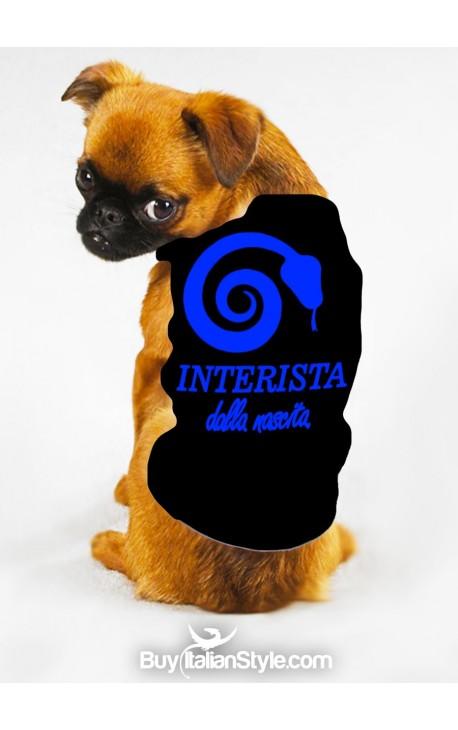 """T-shirt cotone/caldo cotone per cane """"Interista dalla nascita"""""""
