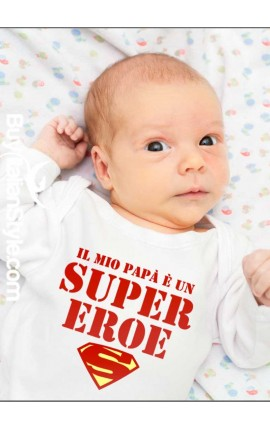 """Bodino bimbo/a """"Il mio papà è un super eroe"""""""