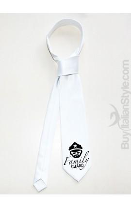 "Personalized Men's Tie ""Family Guard"""