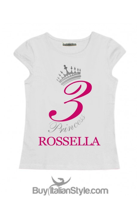 Girl T Shirt For BIRTHDAY Themed PRINCESS CUSTOMIZABLE