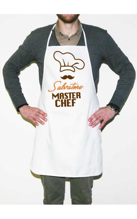 """Grembiule da cucina """"Master Chef"""" PERSONALIZZABILE con NOME"""