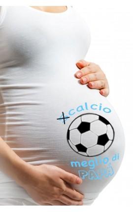 """Canotta pre-maman """"(S)calcio meglio di papà"""""""