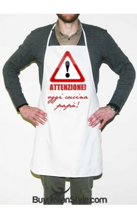 "Kitchen Apron ""Warning! Today Daddy's cooking"""