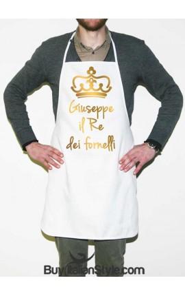 """Grembiule da cucina """"Il re/La regina dei fornelli"""" PERSONALIZZABILE con NOME"""