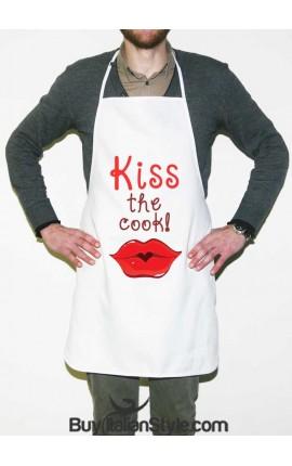 """Grembiule da cucina """"Kiss the cook!"""""""
