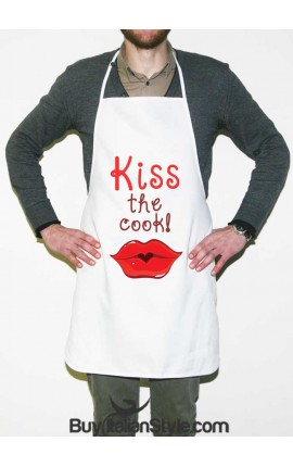 "Grembiule da cucina ""Kiss the cook!"""