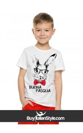 """T-shirt bimbo con scritta """"BUONA PASQUA"""""""