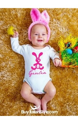 Baby suit with bunny PERSONALIZED BY NAME