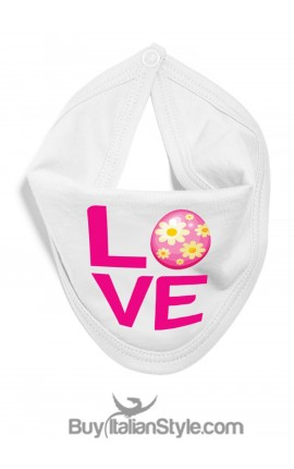 """EASTER bib with """"LOVE"""""""