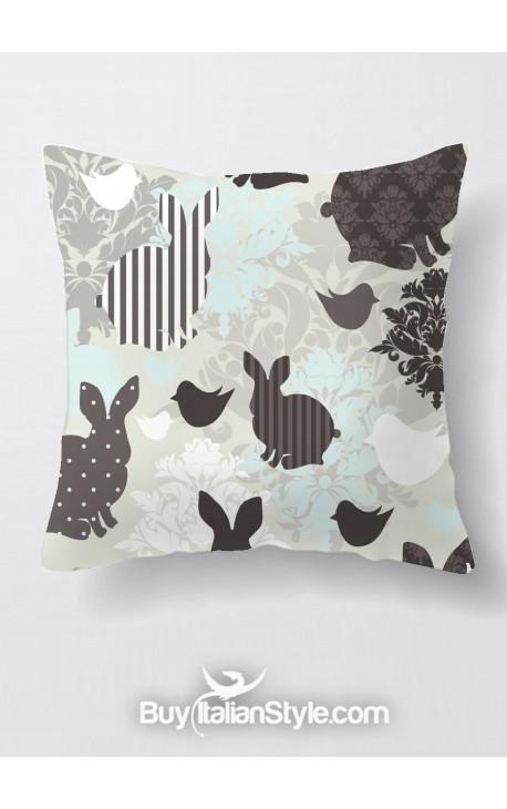 Federa cuscino con coniglietti