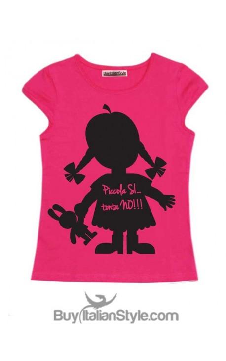 "T-shirt bimba mezza manica ""Piccola si, tonta no"""