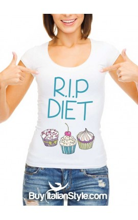 "Women's T-shirt ""R.I.P. DIET"""