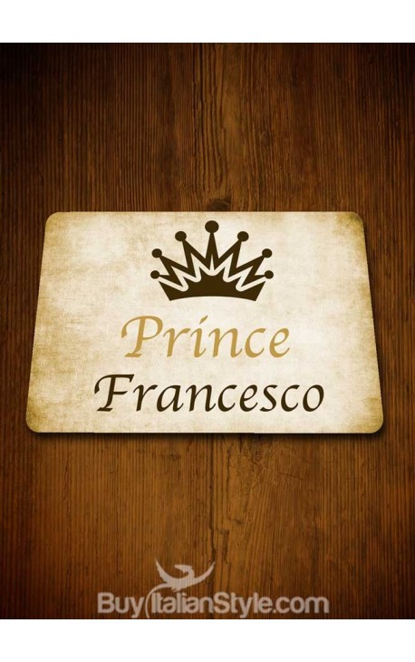 """Prince"" American placemat - CUSTOMIZED with NAME"