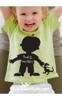 """T-shirt bimbo manica corta """"Piccolo si, tonto no"""""""