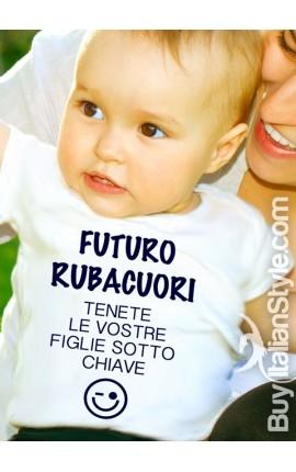 """T-shirt bimbo manica corta """"Rubacuori"""""""