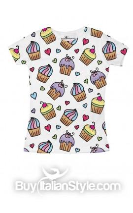 """T-shirt bimba a tema """"CUPCAKES"""""""
