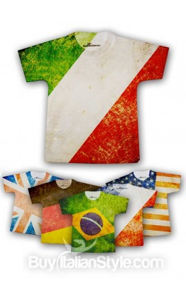 Baby T-shirt with vintage FLAG