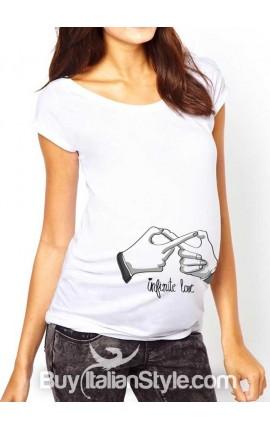 """Maternity t-shirt """"Infinite love"""""""