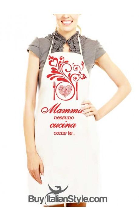 Grembiule da cucina mamma nessuno cucina meglio di te - Grembiuli da cucina spiritosi ...